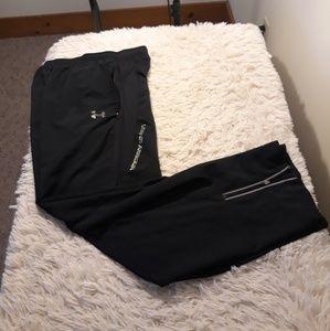 Under Armour track pants men Xl black athletic